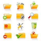 Folder icons. Set of 12  different folder icons Stock Image