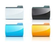 Folder icons vector illustration