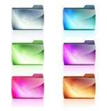 Folder icons. Vector illustration set of cool colorful interface computer folder icons Stock Images