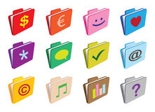 Folder with icons Stock Photos