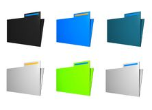 Folder Icons Royalty Free Stock Photo