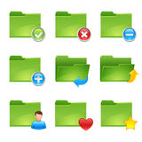 Folder icons. Vector folder icons set 2 Royalty Free Stock Image