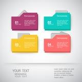 Folder icons Business set - illustration. Folder icons Business, template, icons and illustrations Royalty Free Stock Photo