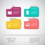 Folder icons Business set - illustration. Folder icons Business, template, icons and illustrations Stock Photo