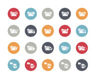 Folder Icons - 1 of 2 // Classics. Vector icons set for your web projects Stock Image