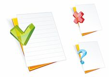 Folder icons.Folders with clean sheets of a paper Royalty Free Stock Photo
