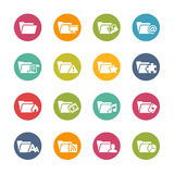 Folder Icons - 2 -- Fresh Colors Series Royalty Free Stock Images