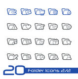 Folder Icons - 2 of 2 // Line Series Royalty Free Stock Photography