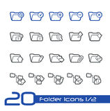 Folder Icons - 1 of 2 // Line Series Stock Photo