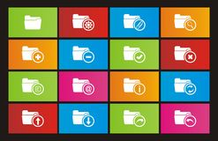 Folder icons - metro style icons. Suitable for user interface Stock Photos