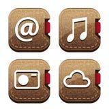 Folder icons set Royalty Free Stock Photo