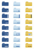Folder icons set Stock Photo