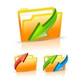 Folder icons set. On white background Royalty Free Stock Image
