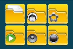 Folder icons Stock Images