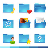 Folder icons set Royalty Free Stock Image