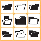 Folder Icons Set Stock Photos