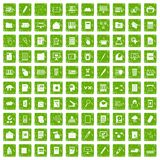 100 folder icons set grunge green Royalty Free Stock Images