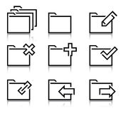 Folder icons Stock Photos