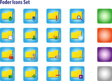 Folder Icons Set. With Option For Different Background Royalty Free Stock Photo