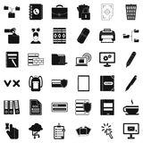 Folder icons set, simle style. Folder icons set. Simple style of 36 folder vector icons for web isolated on white background Royalty Free Stock Photos
