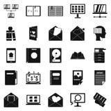 Folder icons set, simple style. Folder icons set. Simple set of 25 folder vector icons for web isolated on white background Royalty Free Stock Images