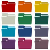 Folder icons set. Vector icon Stock Images