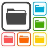 Folder icons set. Vector icon Royalty Free Stock Images