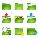 Folder icons set1. Vector green officer icons set1 Royalty Free Stock Photo