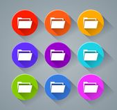 Folder icons with various colors. Illustration of folder icons with various colors Royalty Free Stock Photography
