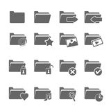 Folder icons. Vector of folder icons on white background Stock Photography