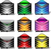 Folder icons Stock Photography
