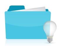 Folder with Ideas Royalty Free Stock Photo