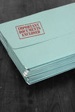 Folder important documents enclosed Royalty Free Stock Image