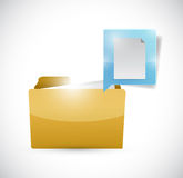 Folder and important documents sign. illustration Royalty Free Stock Photo