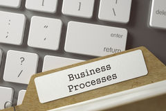 Folder Index with Business Processes. 3D. Stock Photo
