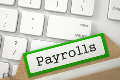 Folder Index with Payrolls. 3D. Stock Images