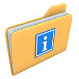 Folder Info Royalty Free Stock Photography