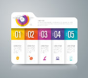Folder infographic design and business icons with 5 options. Royalty Free Stock Photos