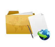 Folder internet concept illustration design Royalty Free Stock Photo