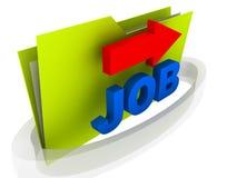Folder Job Stock Image