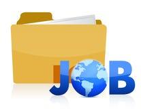 Folder job info Royalty Free Stock Photos