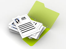 Folder with job profiles Royalty Free Stock Photos