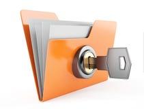 Folder with key Royalty Free Stock Photography