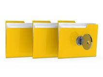 Folder with key Stock Images