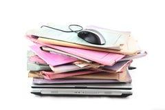 folder laptopa mysz obrazy stock
