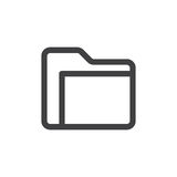 Folder line simple icon Royalty Free Stock Photography