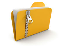 Folder and list with zipper (clipping path included) Stock Photography
