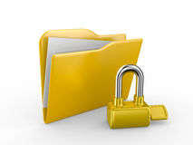 Folder with the lock Stock Images