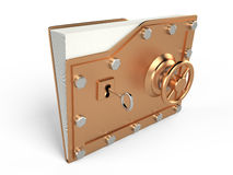 Folder and lock, 3D Stock Photo
