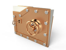 Folder and lock, 3D Royalty Free Stock Photos
